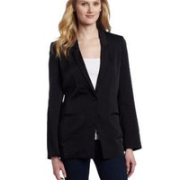AK Anne Klein Women`s Washed Satin Button Front Blazer $169.00