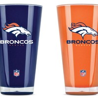Duck House Denver Broncos Tumblers  Set Of 2 20 Oz