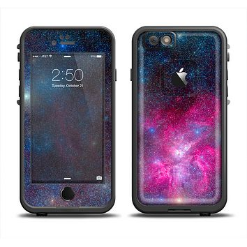 The Pink & Blue Galaxy Apple iPhone 6 LifeProof Fre Case Skin Set