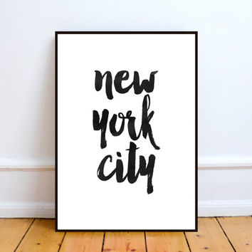 Typography Print : New York Print, New York Art, New York Art Print, New York Poster, New York City Print, New York City Art, Printable Art