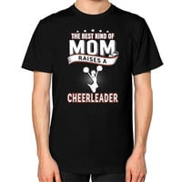 THE BEST KIND OF MOM cheerleader Unisex T-Shirt (on man)