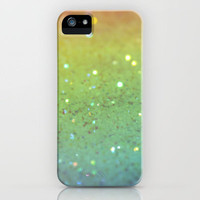 RAINBOW GLITTER iPhone Case by Julie Qiu | Society6
