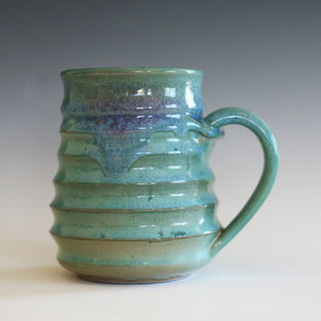 Coffee Mug Pottery, unique coffee mug, ceramic cup, handthrown mug, stoneware mug, wheel thrown pottery mug, ceramics and pottery