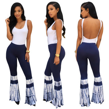 Stylish Wide Legs Jumpsuits with Low Back