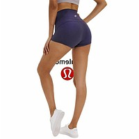 Lululemon athletica women's fitness stretch breathable quick-drying shorts grey