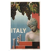 Italy VINTAGE TRAVEL POSTER Ruggero Alfredo Michaelles ITALY 1935 24X36