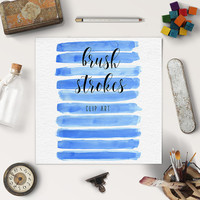 Watercolor Digital Clipart | Watercolour Brush Stroke Clipart | Blue Splotches Overlay | Logo Design, Blog Elements | BUY 5 FOR 8