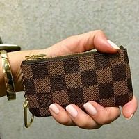 LV Louis Vuitton Classic Popular Key Pouch Clutch Bag Coin Purse Small Wallet