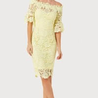 PAPER DOLLS YELLOW CROCHET DRESS
