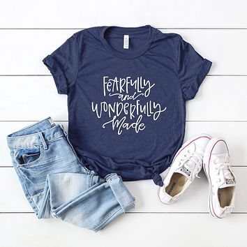 Fearfully and Wonderfully Made | Short Sleeve Graphic Tee