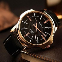 Yazole Rose Gold Men's Wrist Watch - 2017 Top Brand  Luxury Famous Brand Quartz Golden Wristwatch