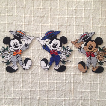 Mickey Mouse iron on patch Mickey Mouse applique Children patches Embroidered applique Cartoon patch Embroidered patch Iron-on applique
