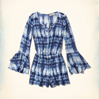 Girls Strappy Ruffle-Sleeve Romper | Girls Clearance | HollisterCo.com