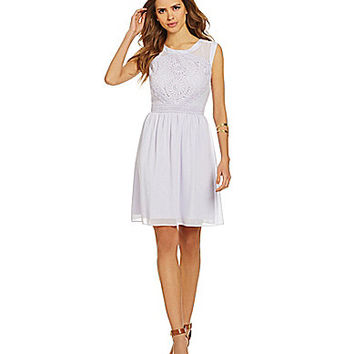 Gianni Bini Trina Lace Dress - Lavender
