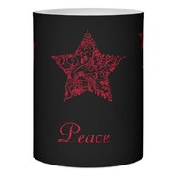 Red Star Peace ~ Elegant Holiday Flameless Candle