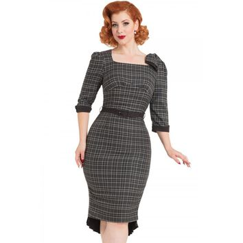 Veronica Tartan Pencil Dress
