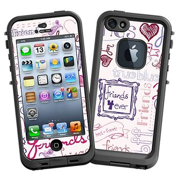 Friends Pink Skin for the iPhone 5 Lifeproof Case by skinzy.com