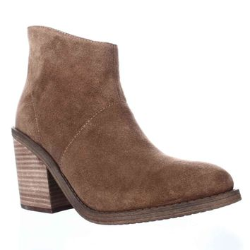 Steve Madden Shrines Block Heel Ankle Booties, Chestnut, 9 US