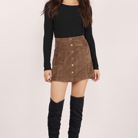 American Woman Faux Suede Skirt $56