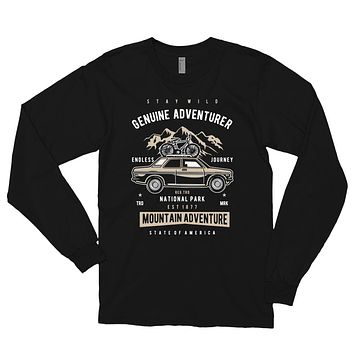 Men's Retro Vintage Long Sleeve Shirt Fall Winter Clothing Genuine Adventurer