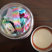 20 Hair Ties in a Jar from Time 2 Shine