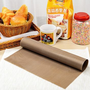30*40cm Pastry Baking Paper Tray Oven Rolling Kitchen Bakeware Mat Sheet Cloth