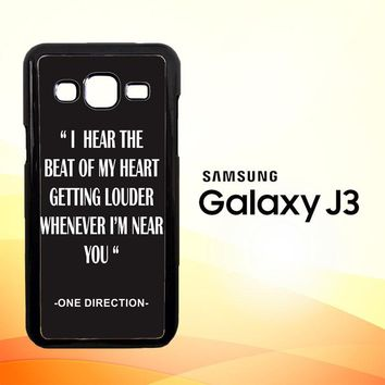 One Direction Lyrics R0263  Samsung Galaxy J3 Edition 2015 SM-J300 Case