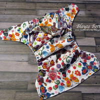 Kaleidoscope Butterfiles OS Pocket Cloth Diaper