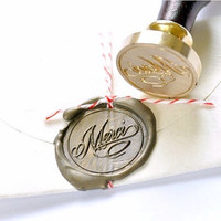 Merci Gold Plated Wax Seal Stamp x 1