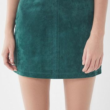 UO Suede Pelmet Mini Skirt   Urban Outfitters