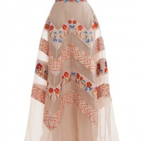 Boutique 1 - TEMPERLEY LONDON - Multi Strapless Embroidered Gown | Boutique1.com