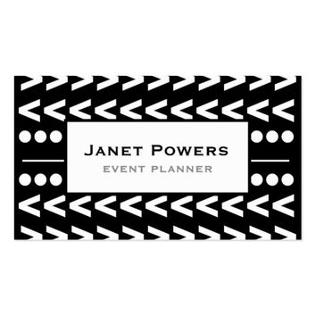 event planner modern chic custom business cards