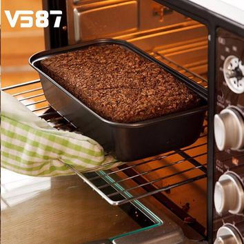 Non-Stick Toast Bread Cake Mould Rectangle Baking Cookies Steel Tin Oven Pan DIY Toast Loaf Mold Kitchen Bakeware