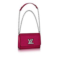 Authentic Louis Vuitton Epi Leather Twist MM Handbag Article: M51006 Fuchsia Made in France