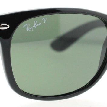 Ray Ban RB 2132 Black Polarized Unisex Wayfarer Sunglasses 55mm Made in ITALY