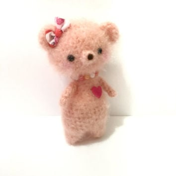 Amigurumi Bear Crochet Bear Teddy Bear Crochet  Doll Plush Stuffed Kids Toy Bear Fuzzy Bear Kawaii Bear Photo Prop Gift for Girls