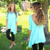 Breeze By Tunic Top in Mint