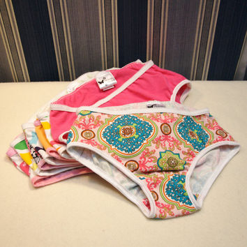 Seven pairs girl's underwear, one week of toddler panties, EC panties