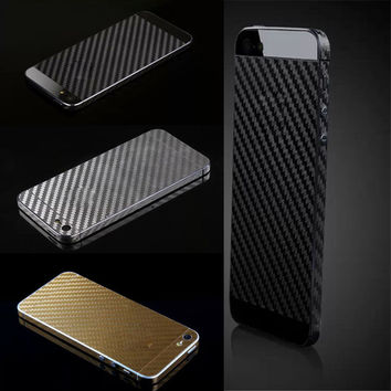 2016 Fashion Carbon fiber film For Apple iPhone 5 5S SE Protective Screen sticker Full Body Phone Cover Case Dirt-resistant