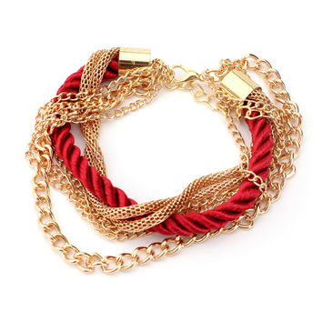 European and American Fashion Multilayer Woven Bracelet
