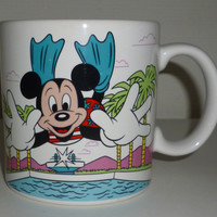 Mickey Mouse Diving Into A Swimming Pool Coffee Mug