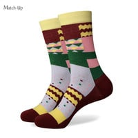 Men colorful combed cotton socks
