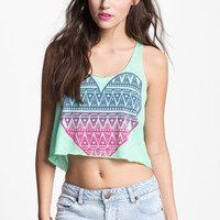 Lush Heart Crop Tank (Juniors) | Nordstrom