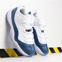 "Duangstyle - Air Jordan 11 Retro Low ""Navy Blue Snakeskin"""