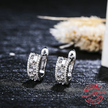 Starland 2016 New 100% Real 925 Sterling Silver Earrings For Women Wedding Fine Jewelry wedding party jewelry Nice Gift