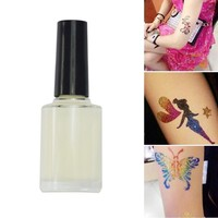 STZ 15 ml White Glitter Tattoo Glue Body Art for Temporary Tattoo Diamond Glitter Colorful Beauty for Body Paint Makeup CH437