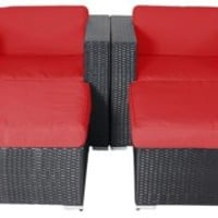 Sofa Shay 4-Piece  Set, Set,  Red, Outdoor Lounge Sets