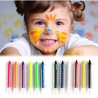6 Colors Face Painting Crayon Pencils Splicing Structure Face Paint Crayon Body Painting Pen Stick For Children Party Makeup
