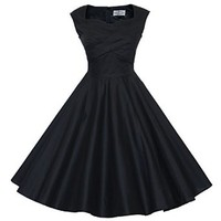 Maggie Tang 50s 60s Vintage Retro Swing Rockabilly Picnic Party Dress