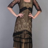 Golden Lotus Dress